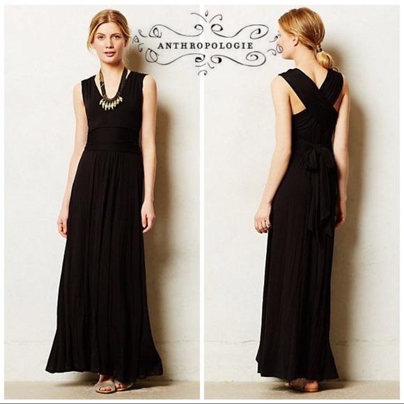 99140d70ef3e Anthropologie Dresses & Skirts - Anthro Vanessa Virginia Black capuchina  Maxi Dress